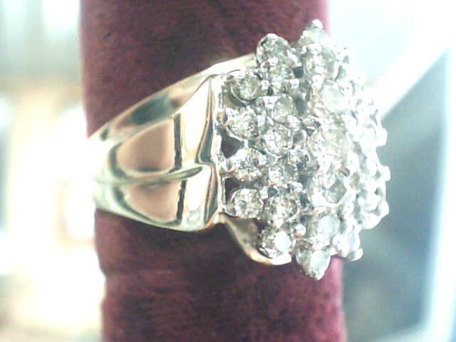 Lady's Diamond Fashion Ring 28 Diamonds .91 Carat T.W. 10K Yellow Gold 4.2dwt