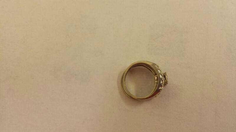 Lds 14K-W/G Diamond Wedding Set