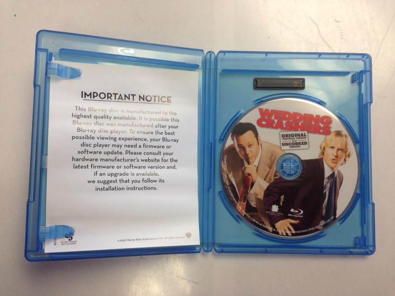 Wedding Crashers (Blu-ray Disc, 2008, Unrated Uncorked Edition)