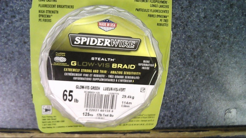SPIDERWIRE STEALTH GLOW-VIS BRAID 65lb 125yd