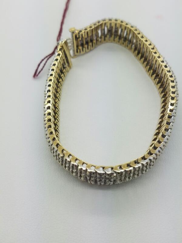 L'S 10KT Gold-Diamond Bracelet TENNIS BRACELET 300 Diamonds 3.00 Carat T.W.