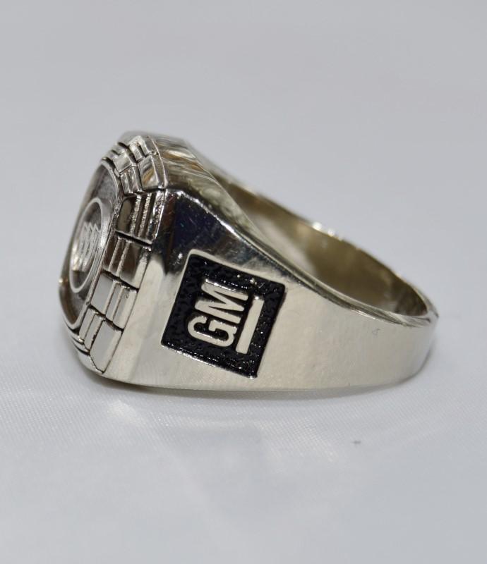 10K White Gold GM General Motors Commemorative Ring Sz 11