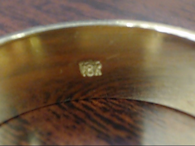 ESTATE WEDDING RING BAND SOLID REAL 18K YELLOW GOLD DECO MENS SZ 12