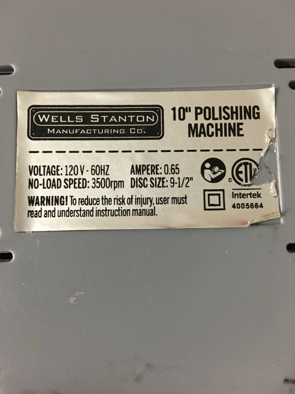WELLS STANTON Hand Tool 10 POLISHING MACHINE