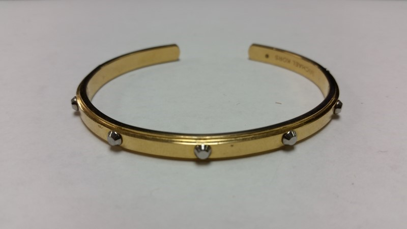 Michael Kors Rose Gold Toned Astor Open Cuff Bracelet