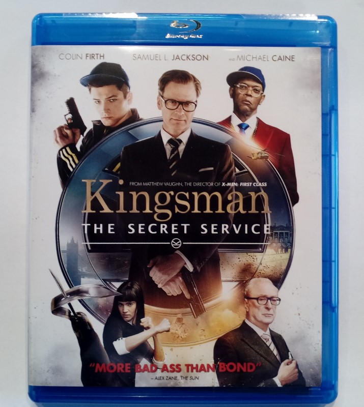 KINGSMAN THE SECRET SERVICE, ACTION  BLU-RAY MOVIE