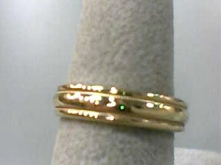 Lady's Gold Wedding Band 14K Yellow Gold 2.9dwt Size:6.5