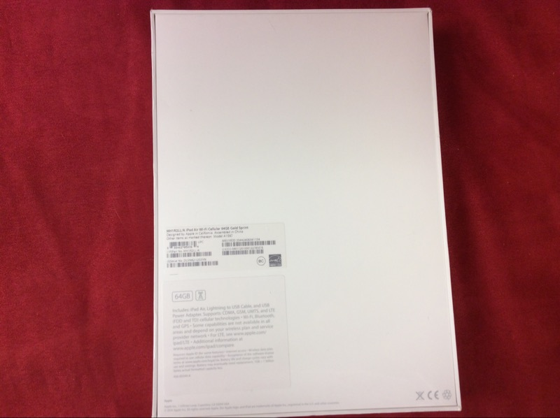 NEW SEALED APPLE IPAD AIR 2 -SPRINT - MH1R2LL/A