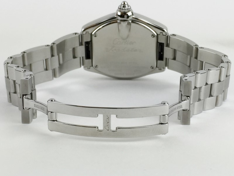 CARTIER STAINLESS STEEL ROADSTER 2675 QUARTZ WATCH WITH BOX