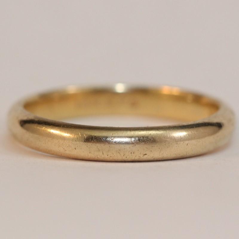 Men's 14K Yellow Gold Wedding Band Size 12.5