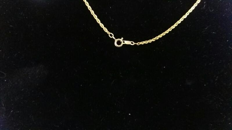 "16.5"" Gold Chain 10K Yellow Gold 3g"