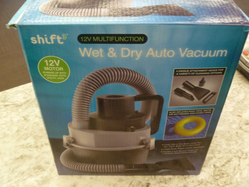 SHIFT3 12V DC CANISTER OUTDOOR WET & DRY AUTO VACUUM WITH ACCESSORIES AND BOX