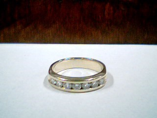 Lady's Diamond Wedding Band 7 Diamonds .35 Carat T.W. 14K Yellow Gold 3.6g