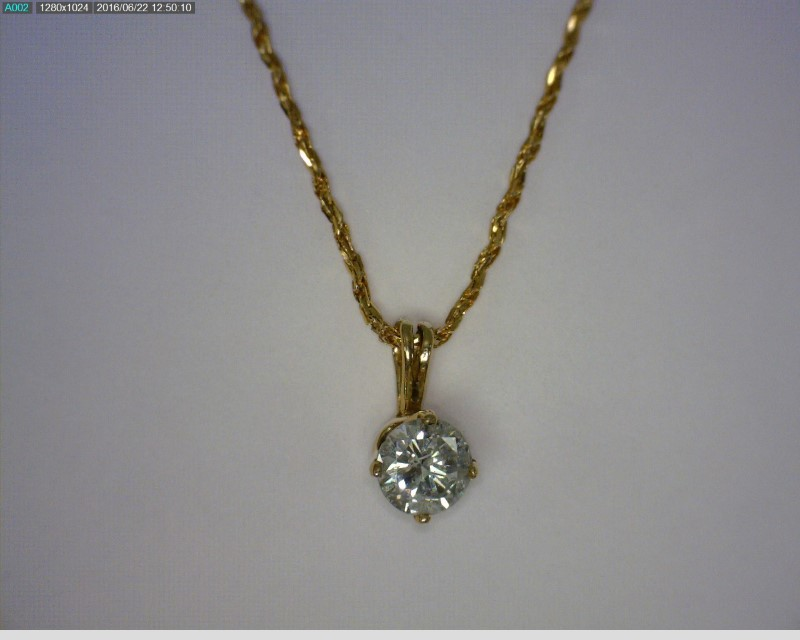 "18"" Diamond Necklace .31 CT. 14K Yellow Gold 1.1dwt"