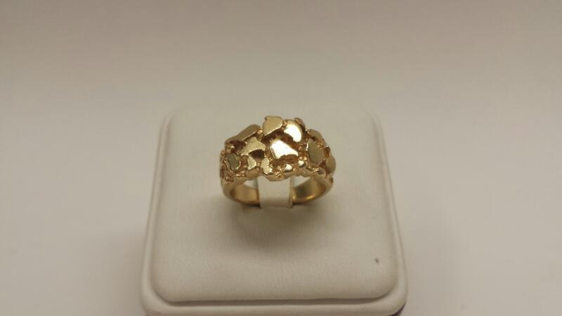 14k Yellow Gold Nugget Ring - 5.9dwt - Size 6