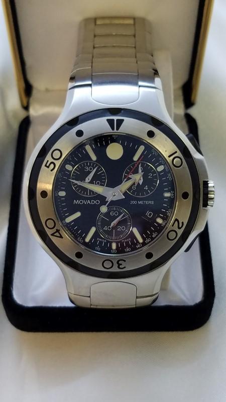 MOVADO Gent's Chronograph Wristwatch 84C51896.1
