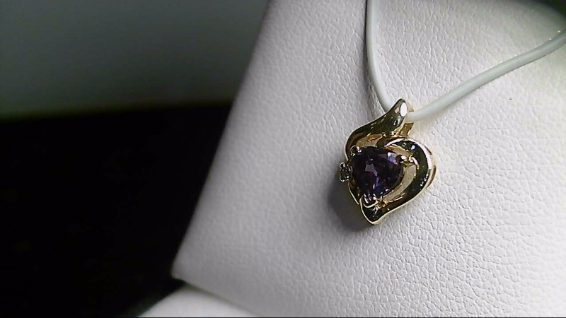 Mystic Topaz Gold-Diamond & Stone Pendant .01 CT. 14K Yellow Gold 1.24g