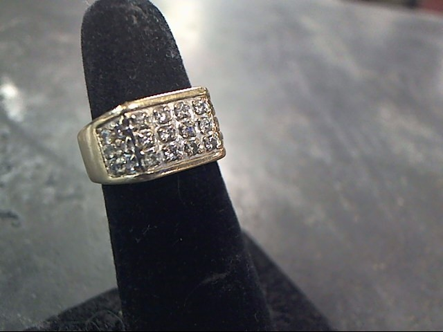 Gent's Diamond Fashion Ring 18 Diamonds .54 Carat T.W. 10K Yellow Gold 3.7dwt