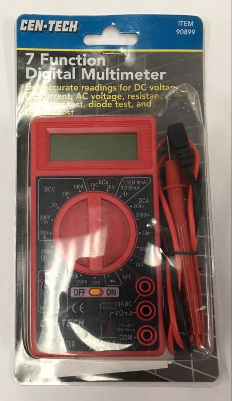 *NEW* CEN-TECH 7 FUNCTION DIGITAL MULTIMETER 90899