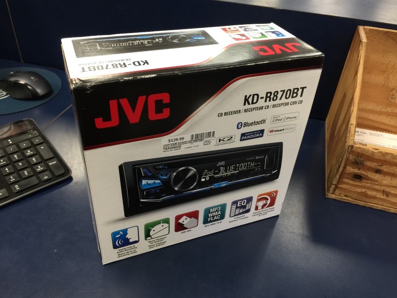 JVC SINGLE DIN KD-R870BT BLUETOOTH CD PLAYER