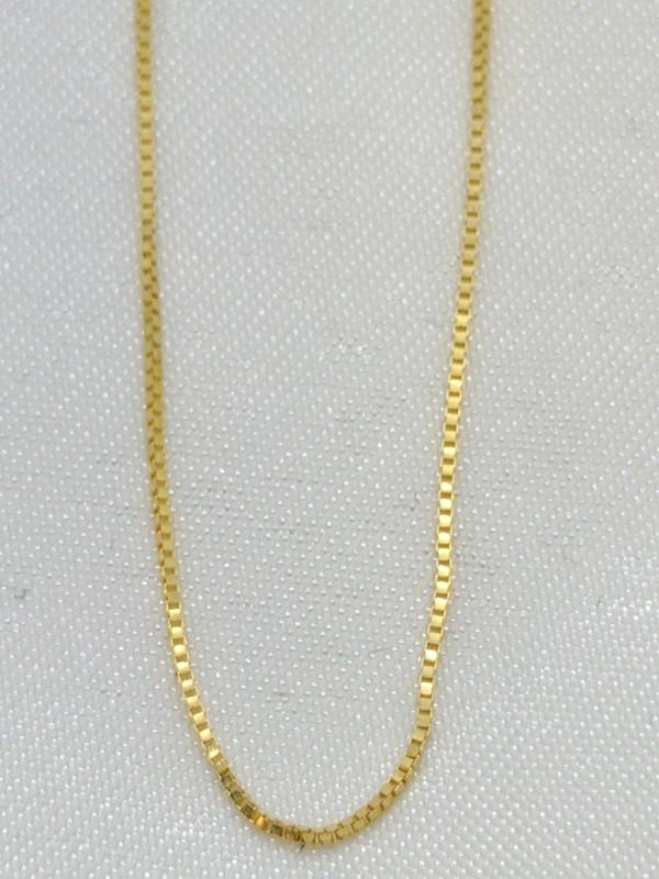 "21"" Gold Box Chain 14K Yellow Gold 1.3g"
