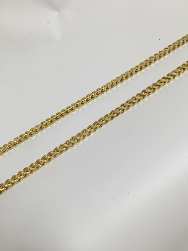 "31"" Gold Serpentine Chain 10K Yellow Gold 9.9dwt"