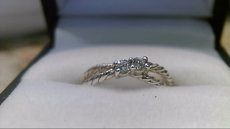New Cubic Zirconia Lady's Silver & Stone Ring 925 2.72g Size:7.3