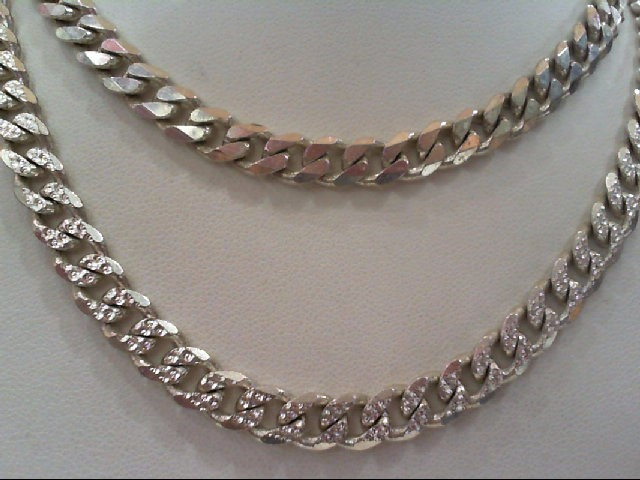 """34"""" Silver Link Chain 925 Silver 61.2g"""