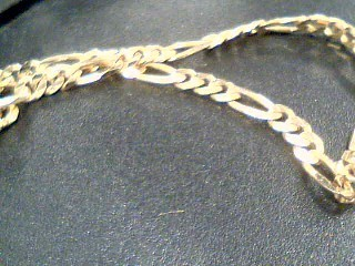 Gold Figaro Bracelet 14K Yellow Gold 4.67g