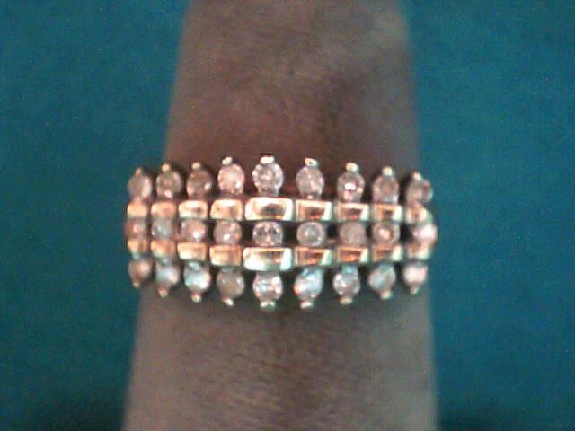 Lady's Diamond Cluster Ring 27 Diamonds .27 Carat T.W. 10K Yellow Gold 2dwt