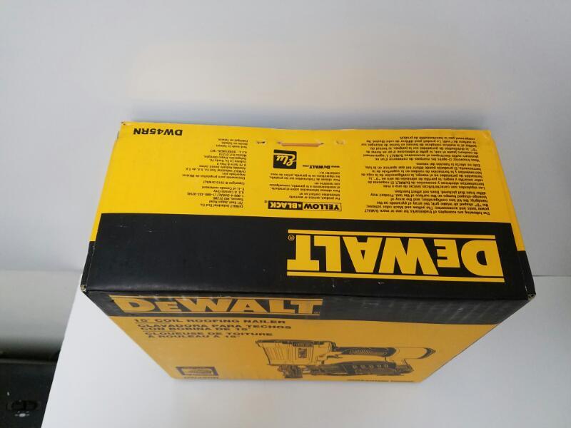 *NEW* DEWALT DW45RN 15 Degree Coil Roofing Pneumatic Air Nailer