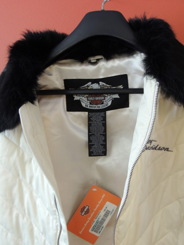 Harley Davidson Women's Jacket Fur Collar 97426-06VW/001W Size S