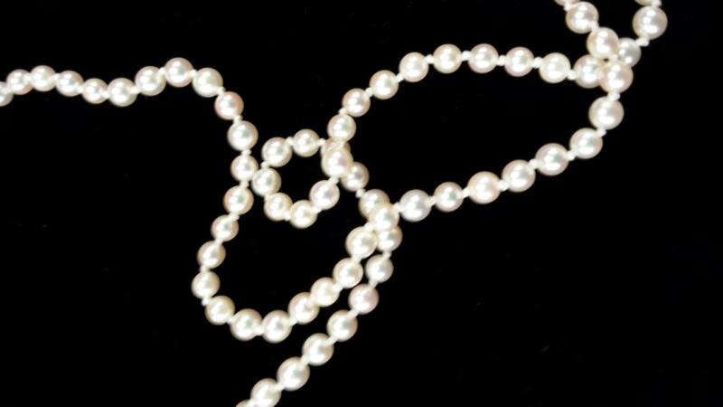 Pearl Stone Necklace 14K Yellow Gold 1dwt