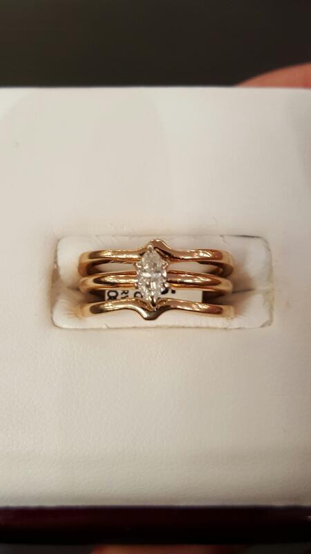 Lady's Diamond Wedding Set .25 CT. 14K Yellow Gold 3.8dwt