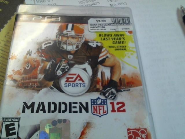 PS3 MADDEN NFL 12