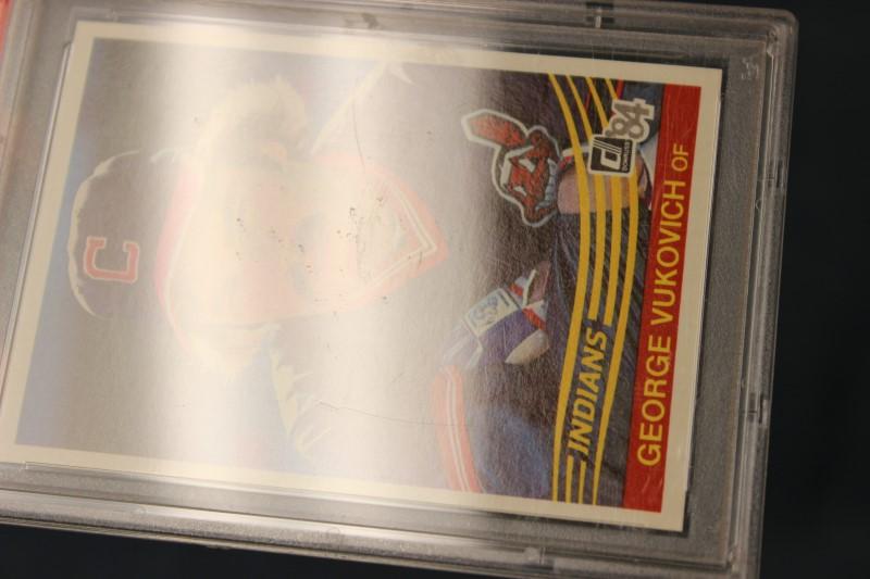 George Vukovich 1984 Donruss Cleveland Indians #468 PSA MINT 9