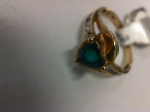 Gent's Diamond Fashion Ring 2 Diamonds .02 Carat T.W. 10K Yellow Gold 2g