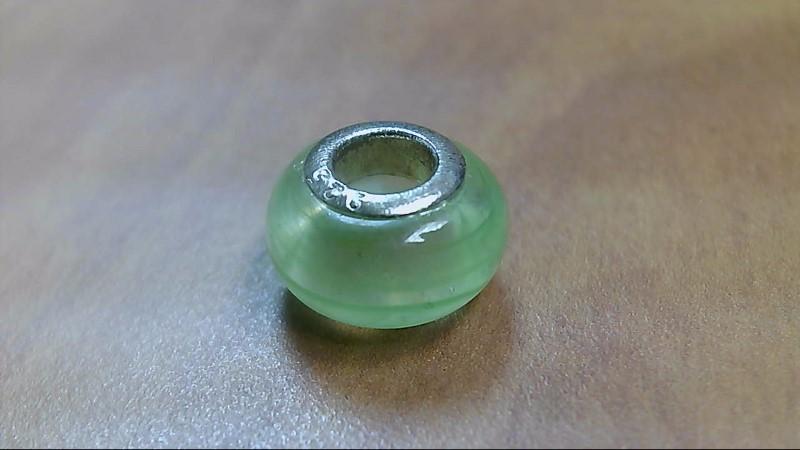 Light Green Glass Bead 925 Silver