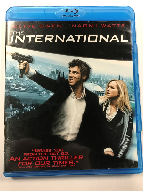THE INTERNATIONAL BLU-RAY MOVIE