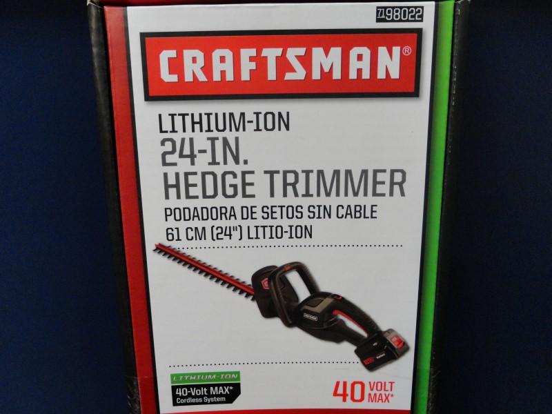 "Craftsman 98022 40-Volt Max Lithium-Ion 24"" Hedge Trimmer"
