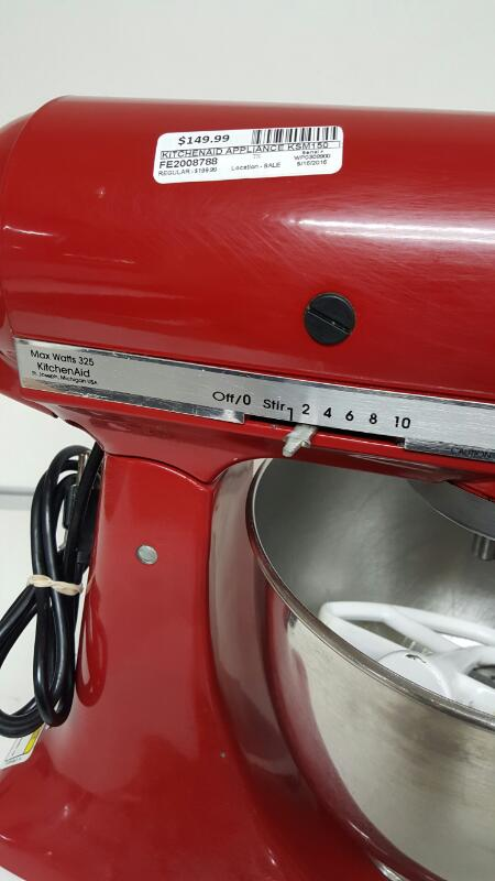 Kitchenaid Artisan KSM150PSER, 5 Quart Stand Mixer Empire Red