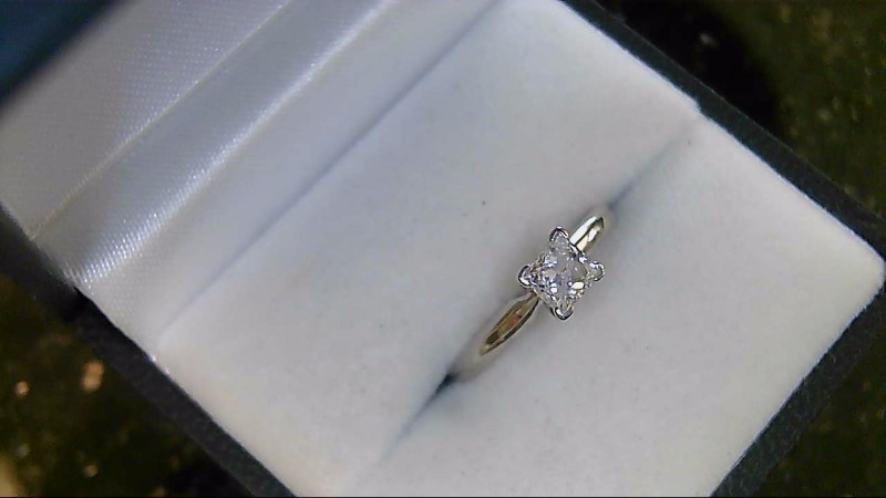 Lady's Diamond Solitaire Ring .46 CT. 14K White Gold 2g