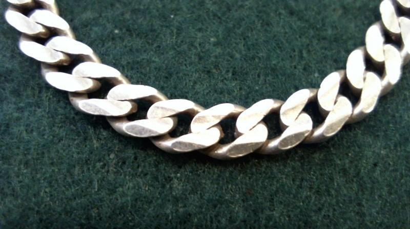 Silver Curb Bracelet 925 Silver 9.6g