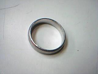 Gent's Platinum Ring 950 Platinum 8.6g Size:9
