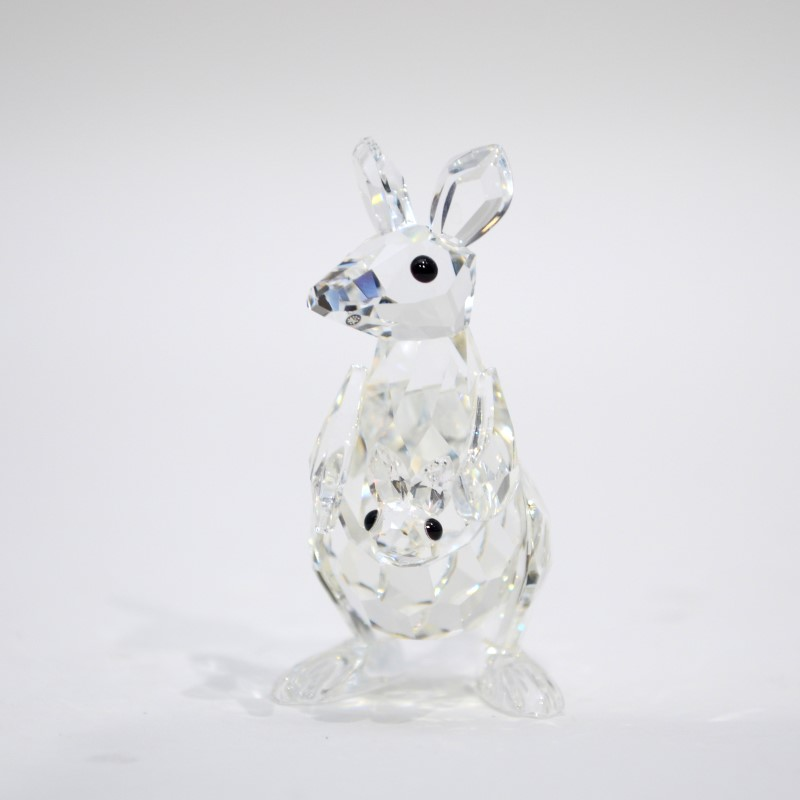 Swarovski Crystal Mother Kangaroo with Joey 7609 000 001 *New NIB*