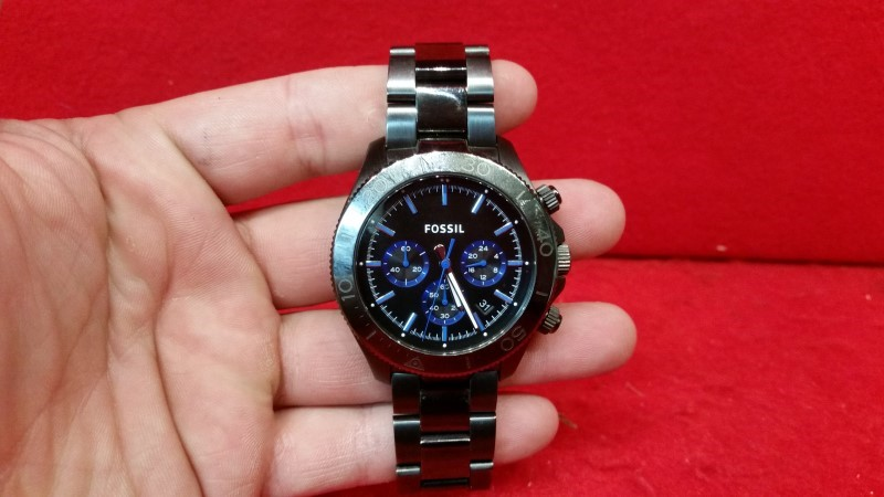 Fossil Authentic Watch CH2869 Smoke 45mm Retro Traveler Stainless Steel