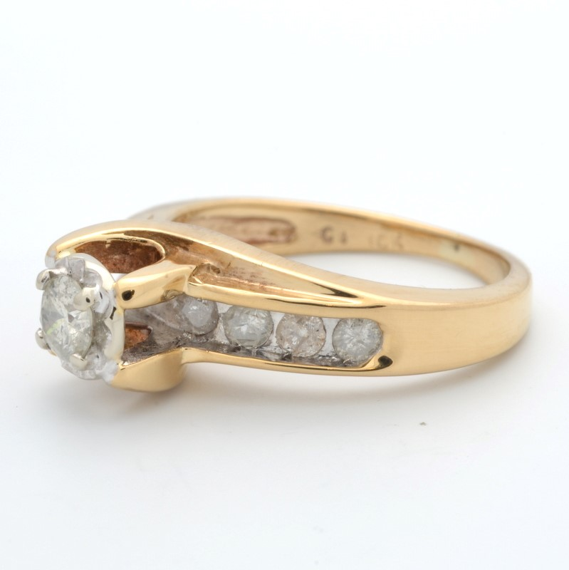 ESTATE DIAMOND RING SOLID 10K GOLD ENGAGEMENT WEDDING BRIDAL SIZE 4