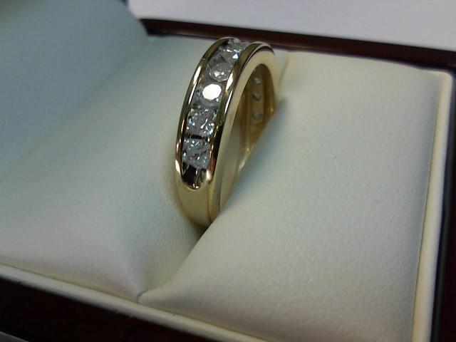 Lady's Diamond Wedding Band 11 Diamonds .55 Carat T.W. 10K Yellow Gold 2.2dwt
