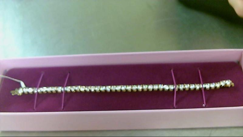 Synthetic Cubic Zirconia Silver-Stone Bracelet 925 Silver 15.68g