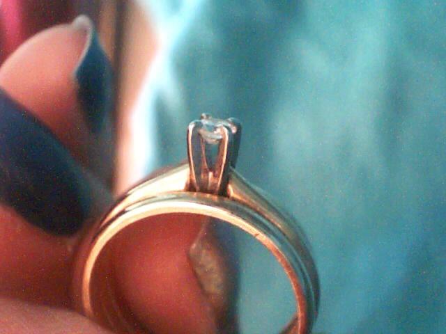 Lady's Diamond Wedding Set .10 CT. 14K Yellow Gold 2.8dwt